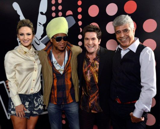 Claudia Leitte, Carlinhos Brown, Daniel, Lulu Santos  - The Voice Brasil