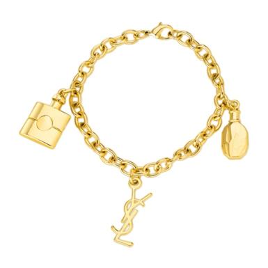 bracelete dourado YSL