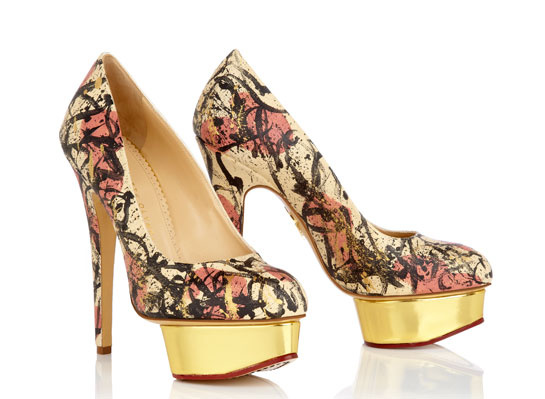 Dolly Abstract Expressionism - Charlotte Olympia