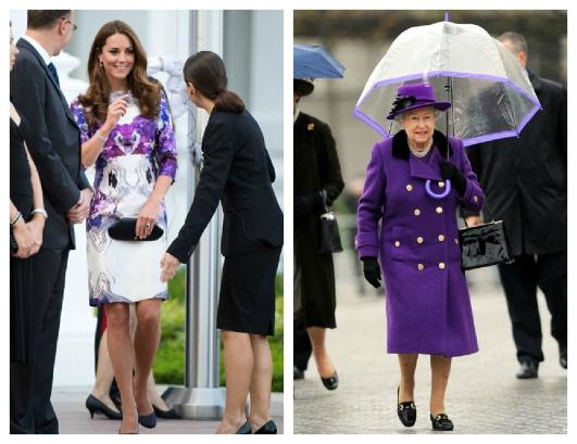 Duquesa de Cambridge / Rainha Elizabeth II