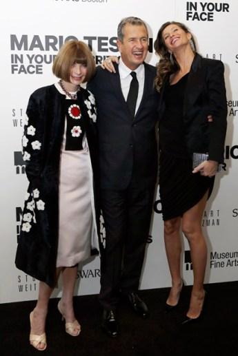 Anna Wintour, Mario Testino e Gisele Bündchen