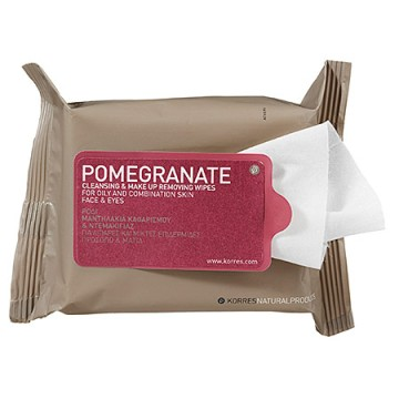 Pomegranate Cleasing & Make Up Removing Wipes For Oily and Combination Skin @Korres