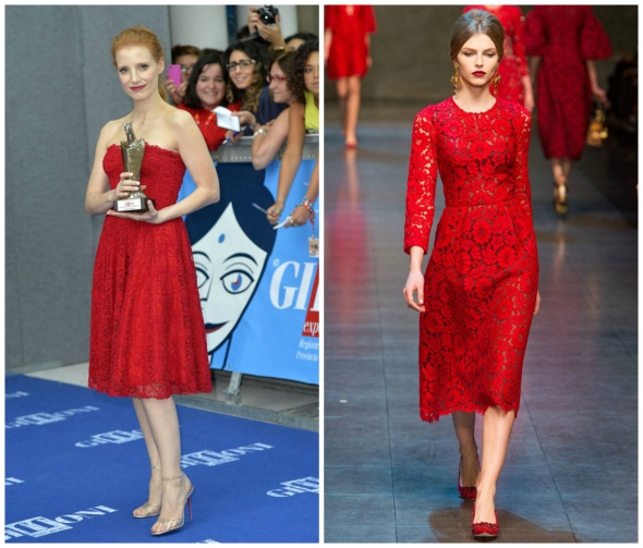 JessicaChastainDolce&Gabbana